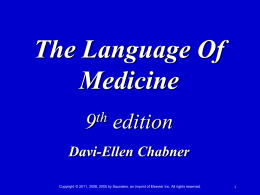 The Language of Medicine A Write