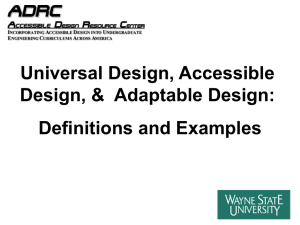 Adaptable Design - Wayne State University