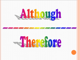 Although\Therefore