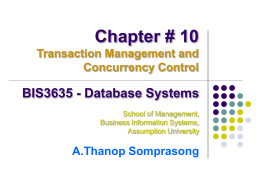 What is a Transaction - a.thanop somprasong (ning)