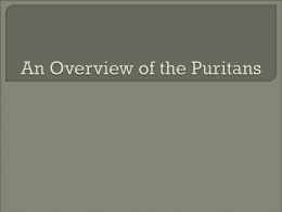 The Dummy`s Guide to the Puritans