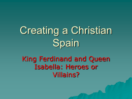 Chapter 9 Creating a Christian Spain