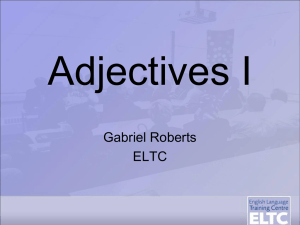 Adjectives I - WordPress.com