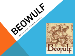 Beowulf Intro PP