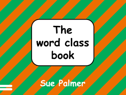 The Word Class Book