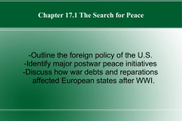 Chapter 171 The Search for Peace PPT
