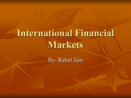 InternationalfinancialMarkets