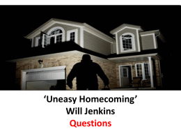 uneasy-homecoming_-questions and answers