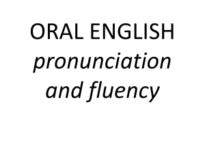 pronunciation - Miss Johnson`s Oral English Classes