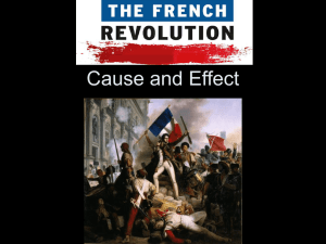 French Revolution: Cause and Effect