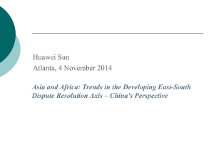 China`s Perspective on Africa Related Arbitration