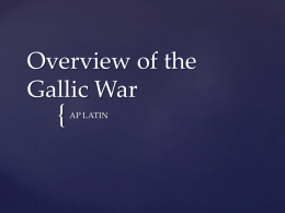 Overview of the Gallic War