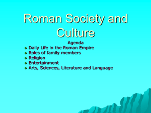 Roman Society and Culture Section 4