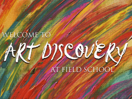 Seurat/Gauguin PowerPoint - Field School Art Discovery