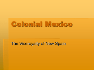 Colonial Mexico - Grand View University