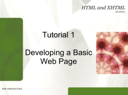 New Perspectives on HTML and XHTML, 5e