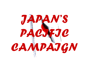 JAPAN`S PACIFIC CAMPAIGN