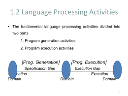 Language Processing Activities