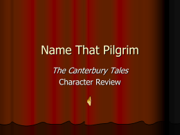 Name that Pilgrim (General Prologue of Canterbury Tales Review