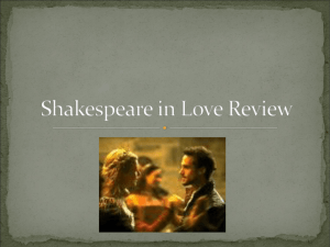 Shakespeare in Love Review