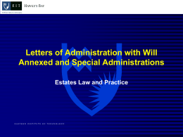 Letters of Administration with will annexed File