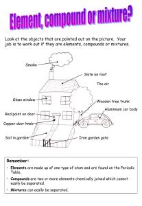 Elements, Compounds & Mixtures Worksheet