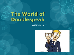 The World of Doublespeak Presentation