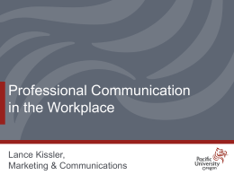 Professional Communication in the Workplace