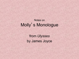 Molly`s Monologue notes - G.VERONESE