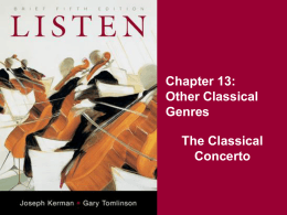 The Classical Concerto
