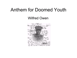 anthem for doomed youth ppt 1 - Module b