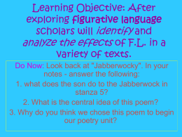 Learning Objective: After exploring figurative