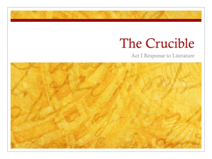 Crucible Act One Prompt