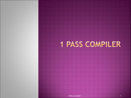 1 Pass Compiler ss assingment