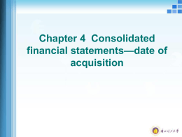 Chapter 4 Consolidated financial statements—date of acquisition