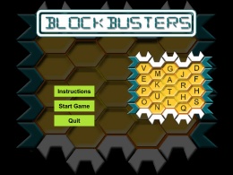 BlockBusters Template
