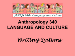 Writing Systems PowerPoint