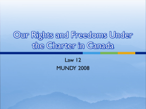 Rights and Freedoms in Canada