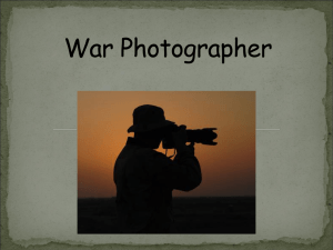 War Photographer Analysis