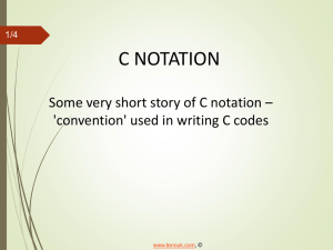C programming ppt slides, pdf on notations