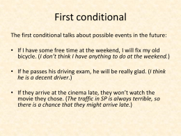 First conditional - IPT Intermediate