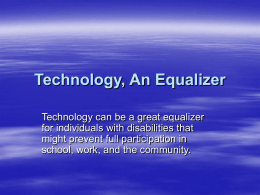Technology_An_Equalizer