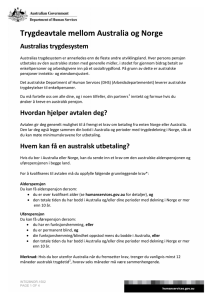 Social Security Agreement between Australia and Norway