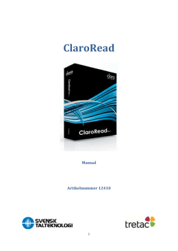 Manual ClaroRead