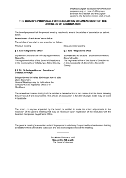 the board`s proposal for resolution on amendment of