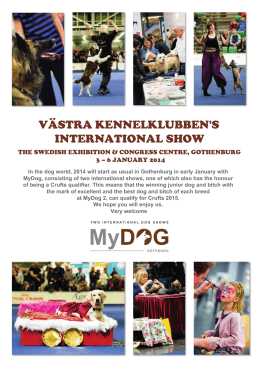 VÄSTRA KENNELKLUBBEN`S INTERNATIONAL SHOW
