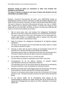 Styrelsens förslag – punkt 6