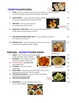 koreanska rätter/korean dishes