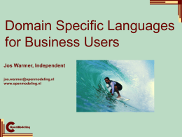 Domain Specific Languages for Business Users