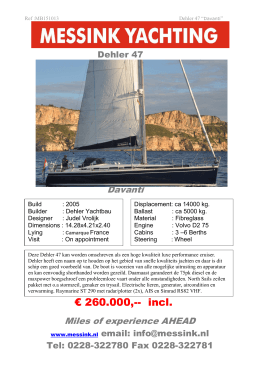 € 260.000,-- incl. - Messink Yachting